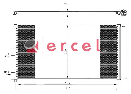 Airco condensor FIC 573