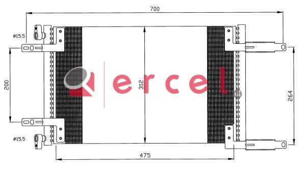 Airco condensor FIC 596