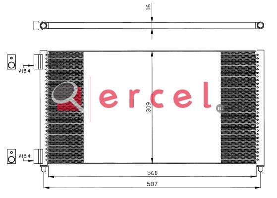 Airco condensor FIC 595