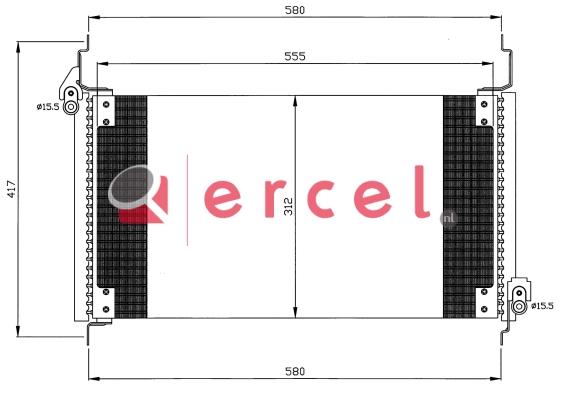 Airco condensor FIC 568