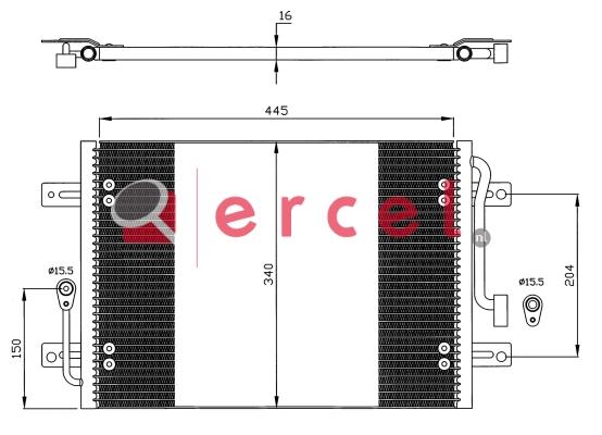 Airco condensor FIC 505
