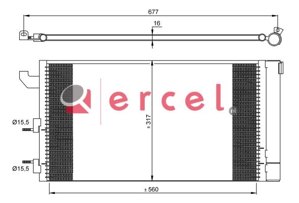 Airco condensor FIC 527