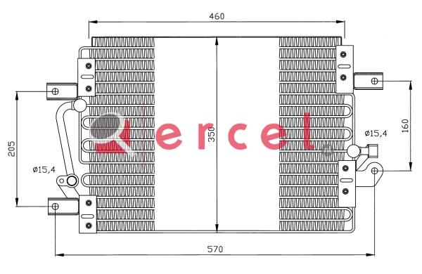 Airco condensor FIC 513