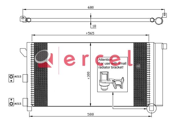 Airco condensor FIC 579