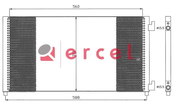 Airco condensor FIC 572