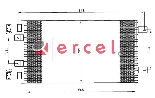 Airco condensor FIC 574