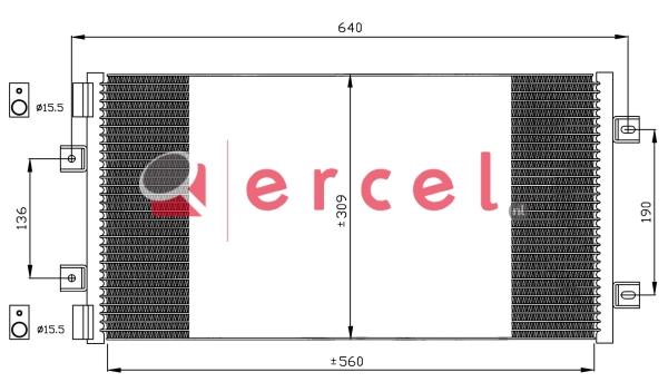Airco condensor FIC 507
