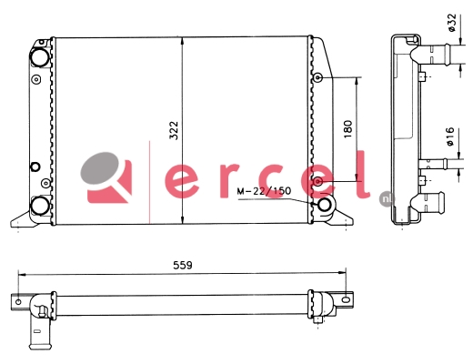 Radiateur AUR 014