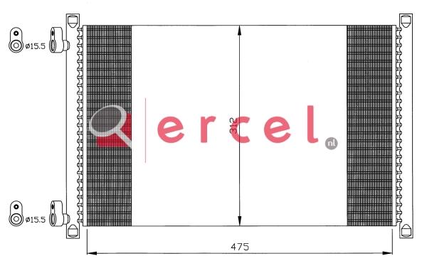 Airco condensor FIC 576