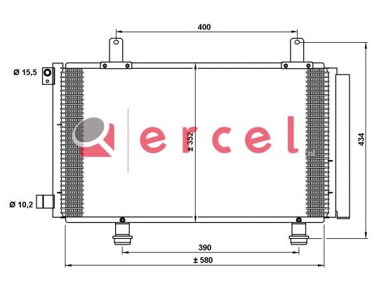 Airco condensor SUC 530