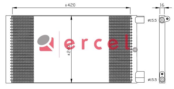 Airco condensor FIC 578