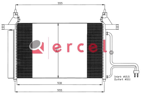 Airco condensor FIC 598