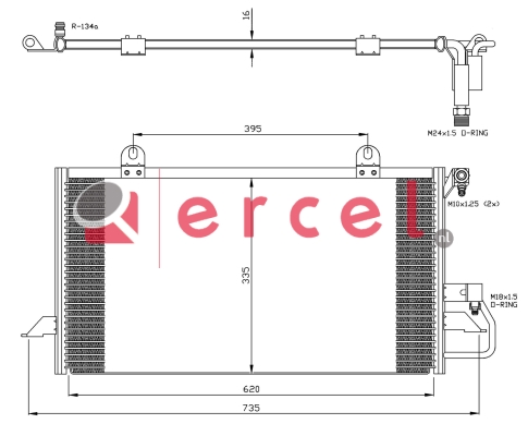Airco condensor AUC 518