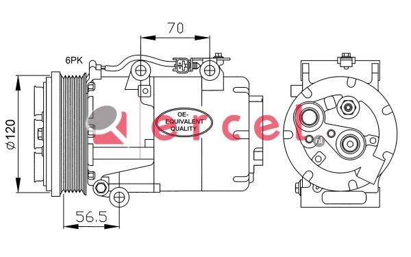Airco compressor FOK 050