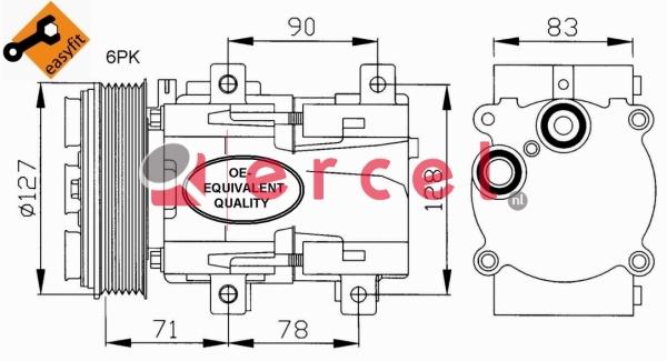 Airco compressor FOK 002