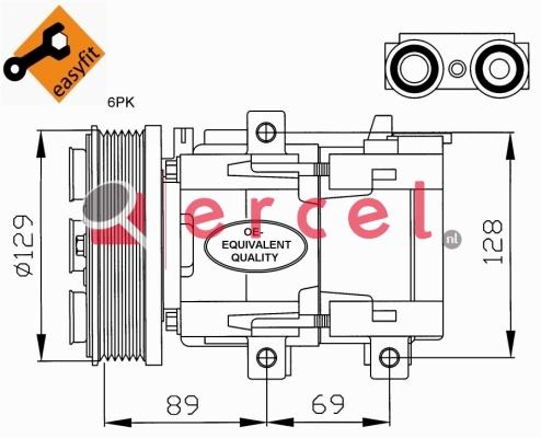 Airco compressor FOK 033