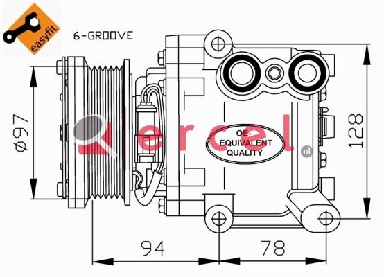 Airco compressor FOK 074