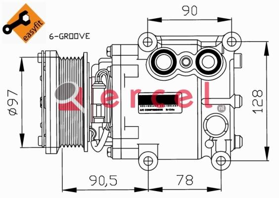 Airco compressor FOK 054