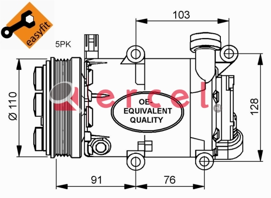 Airco compressor FOK 043