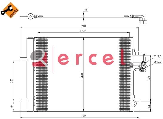 Airco condensor FOC 501