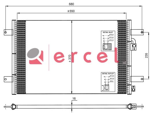 Airco condensor FOC 552