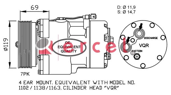 Airco compressor FOK 007
