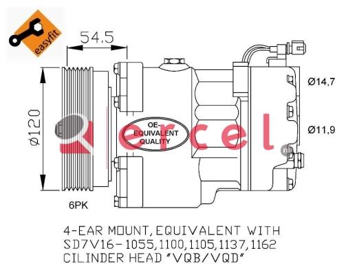 Airco compressor VWK 003