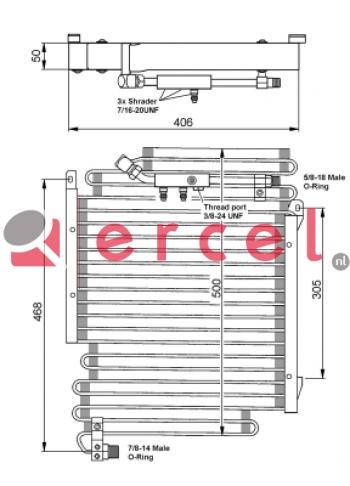 Airco condensor AUC 520
