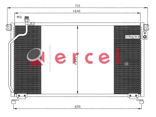 Airco condensor NIC 518