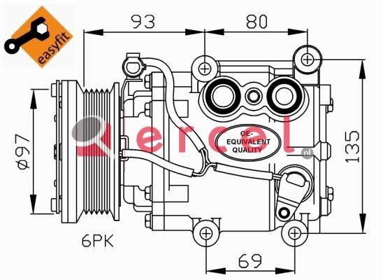 Airco compressor FOK 032