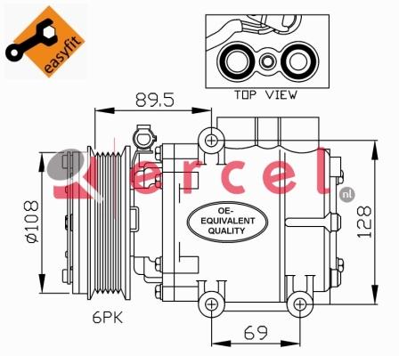 Airco compressor FOK 037