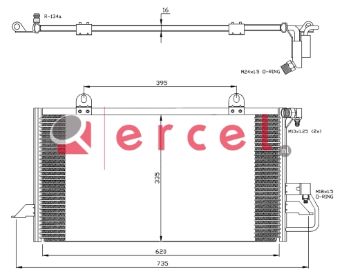 Airco condensor AUC 530