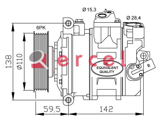 Airco compressor VWK 025