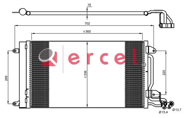 Airco condensor SEC 520