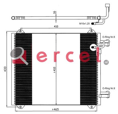 Airco condensor AUC 552