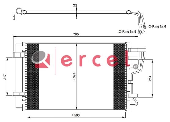 Airco condensor KAC 556