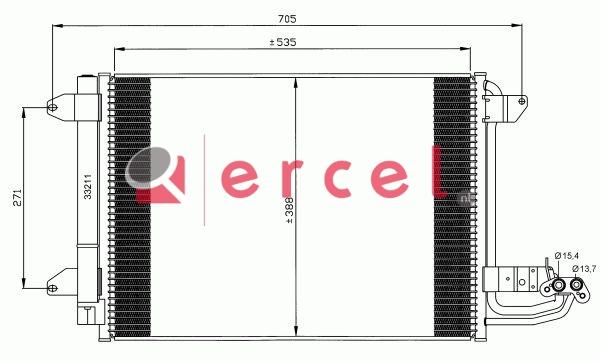 Airco condensor VWC 554