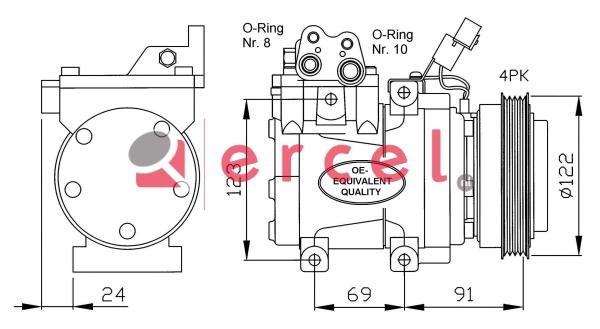 Airco compressor HYK 021