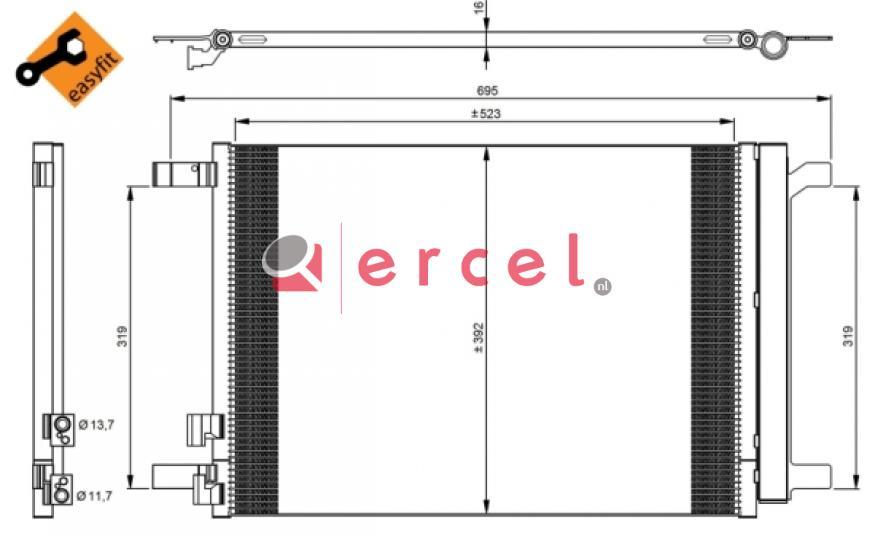 Airco condensor AUC 546