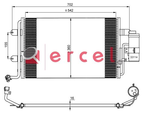Airco condensor AUC 538
