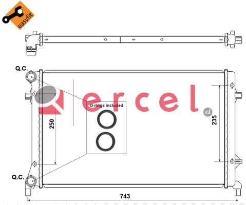 Radiateur VWR 164