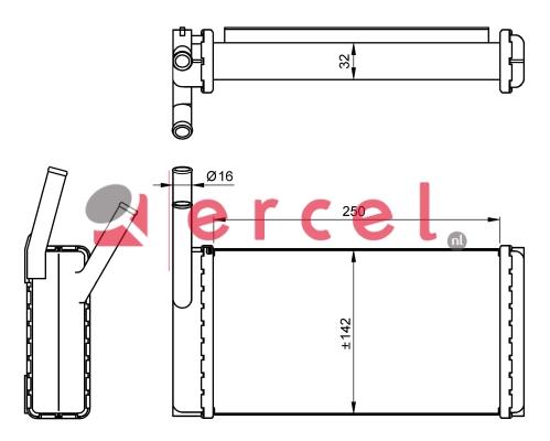 Kachelradiateur RVH 216