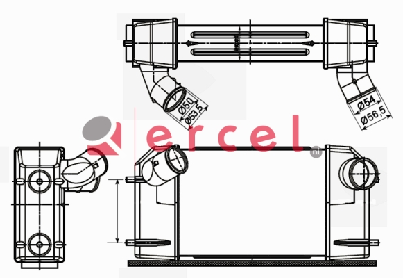 Interkoeler RVI 408