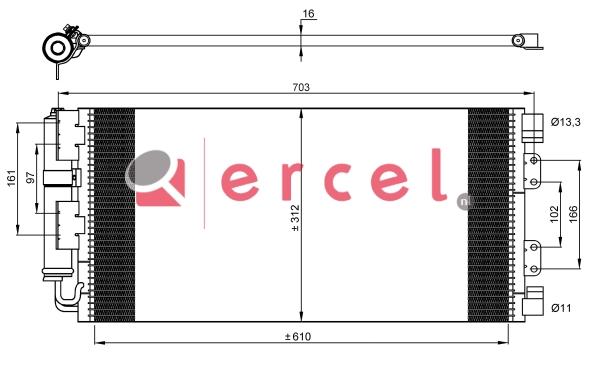 Airco condensor RVC 538