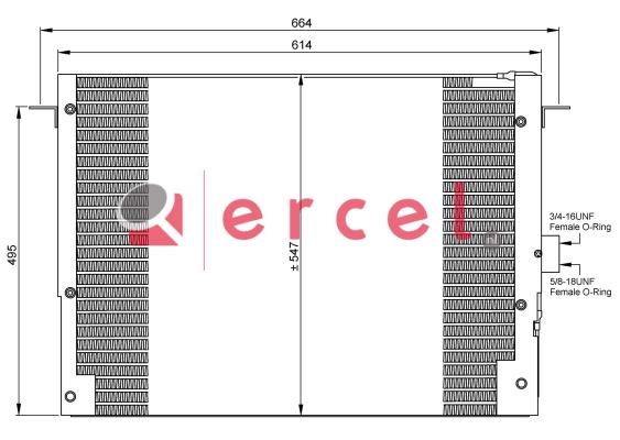 Airco condensor RVC 528