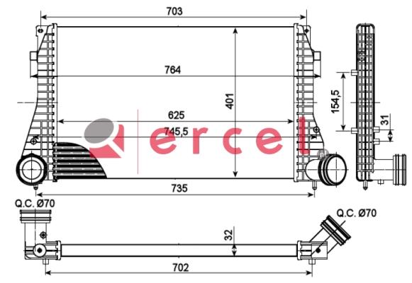 Interkoeler VWI 472