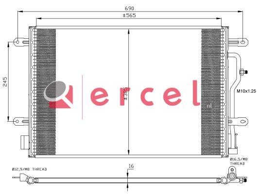 Airco condensor AUC 556