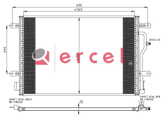 Airco condensor AUC 560
