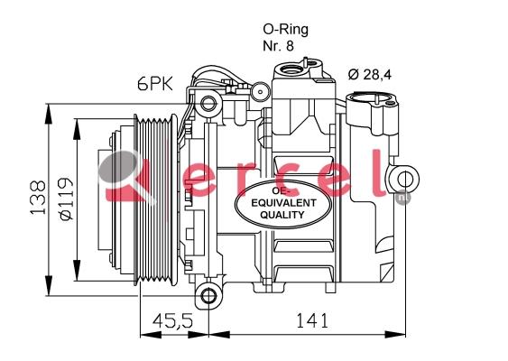 Airco compressor MBK 007