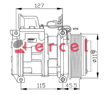 Airco compressor MBK 022